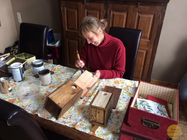 Christine fabrication nichoirs Plumalia